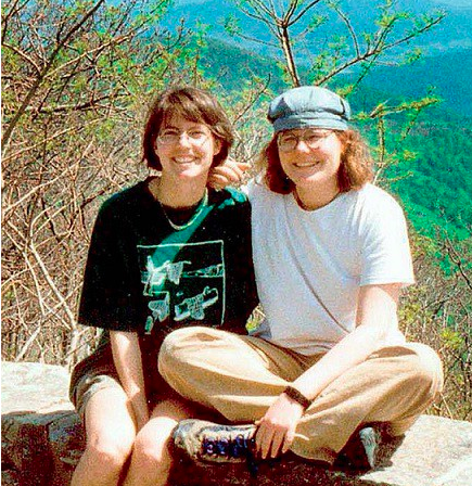 Julie (left) and Lollie (right) smile together during their trip to Shenandoah National Park