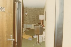 Room 260 at the Amana Holiday Inn--the homicide scene--is pictured here. Rose Burkert and Roger Atkison were murdered inside on the night of September 12, 1980.