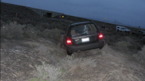 Patrick's car was discovered empty and high-centered in the sagebrush at I-80 Exit 205 early in the morning of April 14, 2011. How and why it got there remains a mystery.