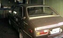 A brown sedan pictured is Lisa's car.