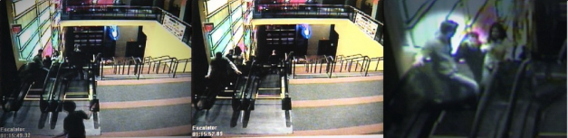 These stills from the last known security footage of Brian were taken just minutes before he disappeared. In them, he talks with two women by the escalator that leads to the Ugly Tuna Saloona, a second story bar.