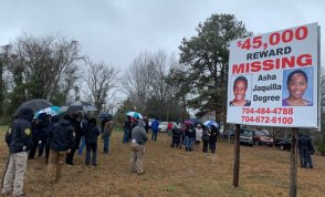 A billboard highlighting Asha's disappearance has long been maintained in Shelby.